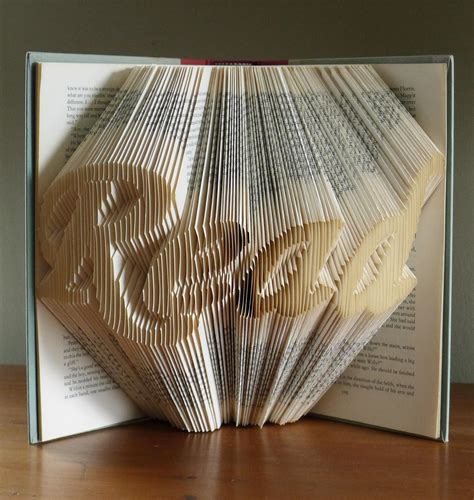 Book Paper Folding - folded book gifts for book read altered book