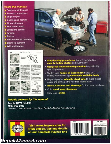 auto repair manual free download 2012 toyota rav4 engine control haynes toyota rav4 1996 2012 auto repair manual