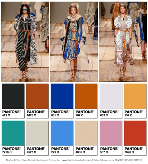 2017 color of the year fashion etro spring summer 2017 collection color codes fashion trendsetter