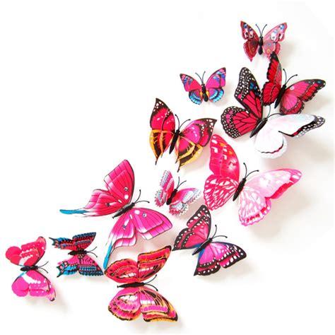 Wandtattoo Kinderzimmer Pink by 3d Schmetterlinge 12er Set Wandtattoo Wandsticker Wanddeko