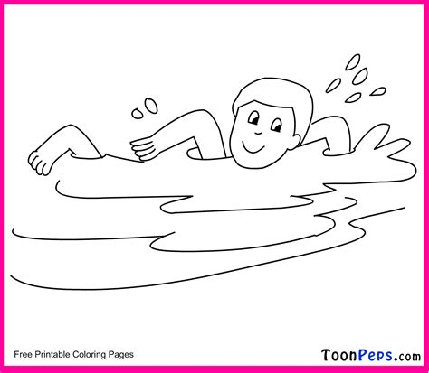 swimming printable coloring pages