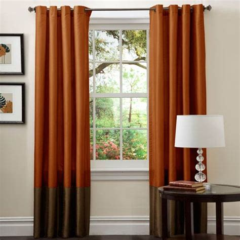 rust kitchen curtains prima brown rust window curtain set of two lush decor