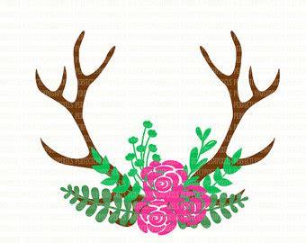 deer antler clip deer clipart deer antler pencil and in color deer