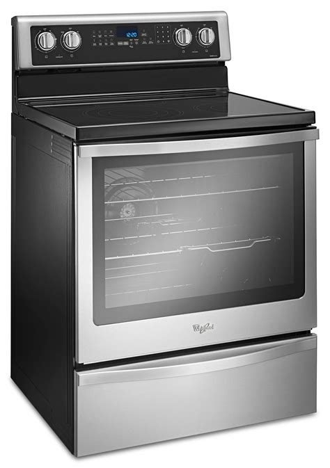 range kitchen appliances whirlpool stainless steel freestanding electric range 6 4