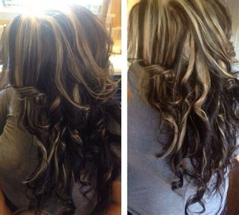 highlights lighter on top darker on bottom blonde highlights on top of dark hair hair pinterest