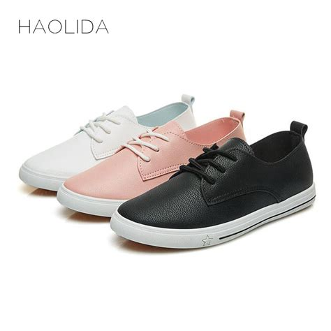 Flat Shoes 2018 Aamr 2018 summer new leather shoe casual leather shoes for flat shoes white