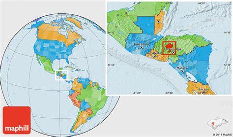 honduras location on world map political location map of comayagua