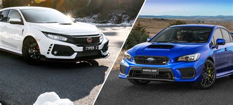 subaru honda honda civic type r v subaru wrx sti comparison reviewz