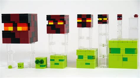 Lego Minecraft Cube World 2 lego minecraft slimes and magma cubes see how to build