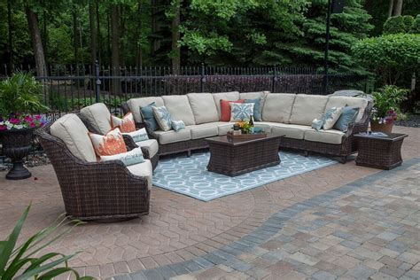 mila collection 9 piece all weather wicker patio furniture
