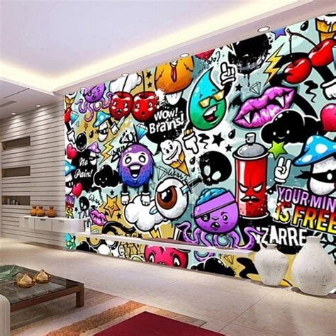 graffiti interiors home art murals and decor ideas graffiti mural wallpaper picture more detailed picture