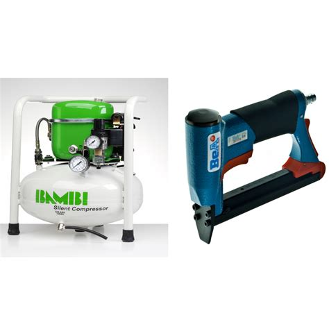 upholstery staple gun air compressor bambi 24 ltr compact silent air compressor kit with bea