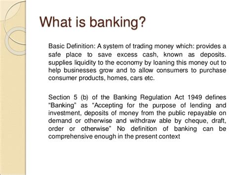 what is a banker introduction to banking