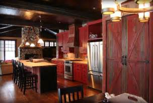 Barn Red Kitchen Cabinets Red Cabinets Home Decor Pinterest