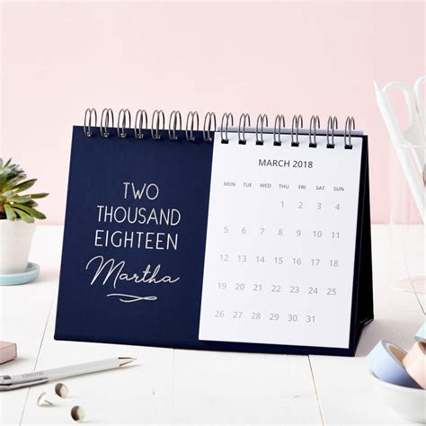 desk calendar personalised 2018 desk calendar by martha brook
