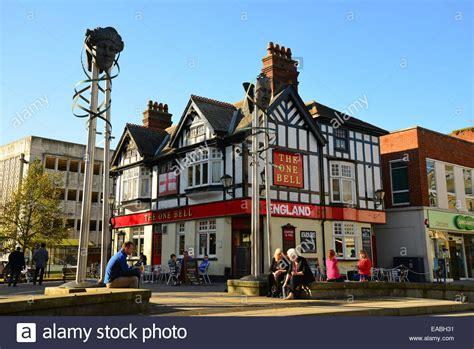 high street british companies united kingdom uk the one bell pub high street watford hertfordshire