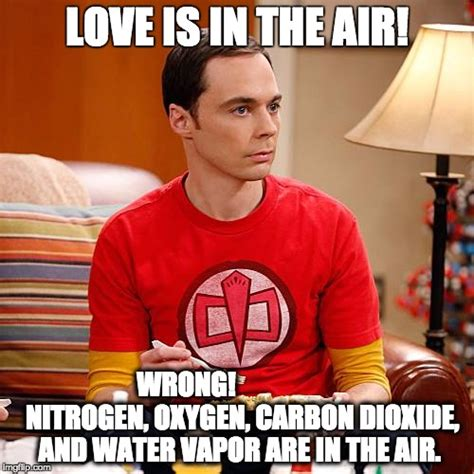 sheldon cooper meme love is in the air www pixshark com