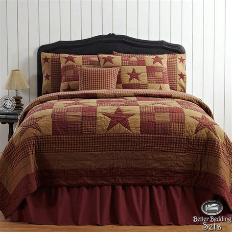 queen quilt bedding details about country rustic western star twin queen cal