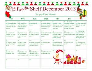 free elf on the shelf month long printable