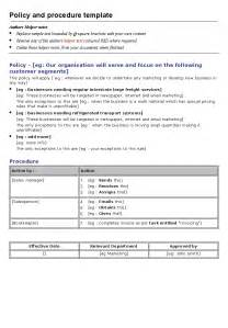 policies and procedure manual template policies and procedures template best business template