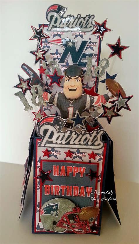 Patriots Birthday Card What Shall I Make Today New England Patriots Pop Up Box Card