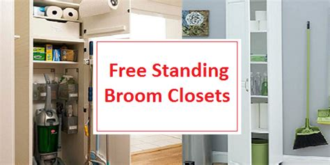 storage cabinets for mops and brooms best free standing broom closet cabinets