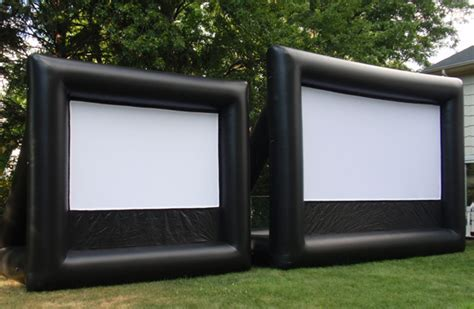 inflatable backyard movie screen new jersey outdoor movies inflatable movie screen rentals