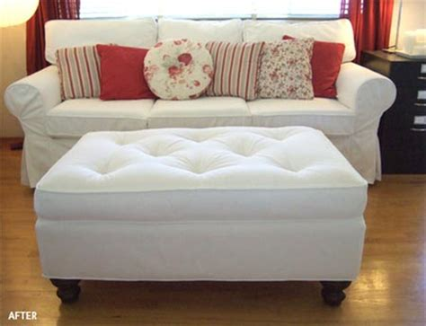 recovering ottoman home dzine craft ideas reupholster an ottoman