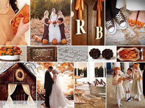 {Happy Harvest}: Chocolate Brown, Burnt Orange & Ivory