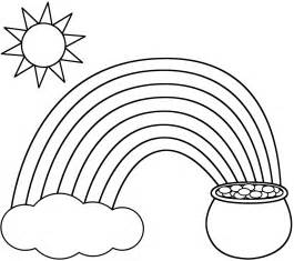 rainbow coloring sheet rainbow coloring pages for printable only coloring