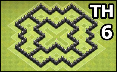 coc map layout th6 youtube kids clash of clans town hall 6 coc th6 base