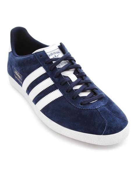Adidas Gazele Suede adidas gazelle og navy suede sneakers in blue for