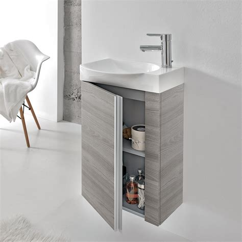 royo bathroom furniture royo elegance vanity cabinet and ceramic sink 18 quot gray