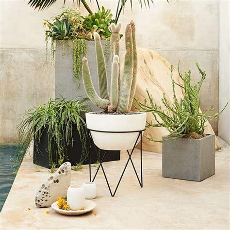 iris planter chevron stand west elm i need this