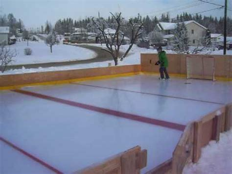 how to make a ice skating rink in your backyard homemade ice rink quesnel 2 youtube