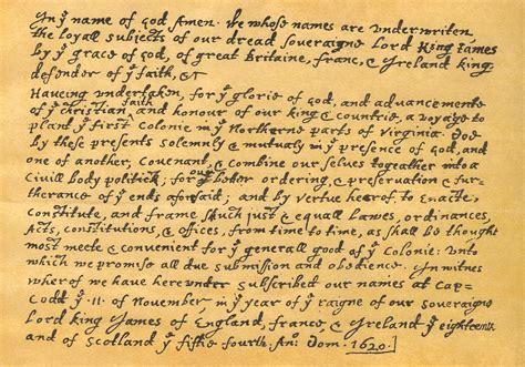 Mayflower Compact Document mayflower compact original document