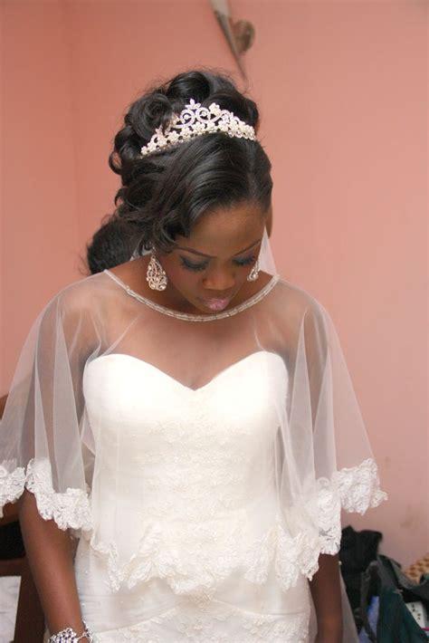nigerian wedding love  modified veil wed dress bridal gown  pinterest