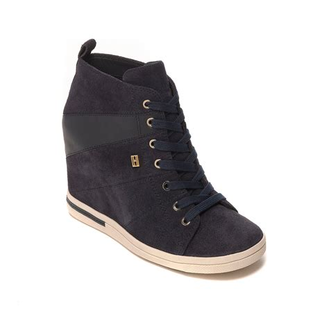 Hilfiger Wedges by Hilfiger Uptown Sneaker Wedge In Blue Midnight