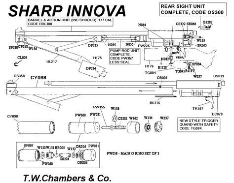 Seal Sharp Barrel innova sharp airgun spares chambers gunmakers airgun
