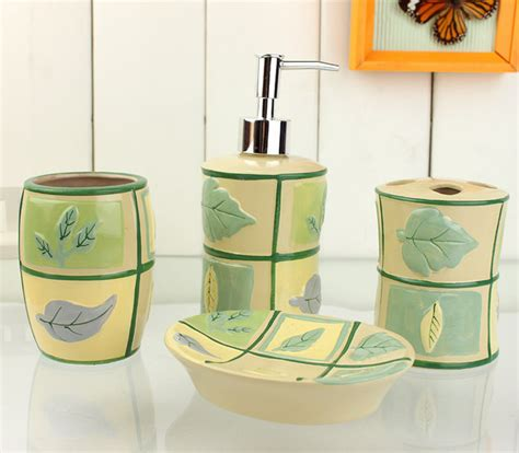Yellow Bathroom Accessories Sets Bathroom Accessories And Brown Bathroom Sets