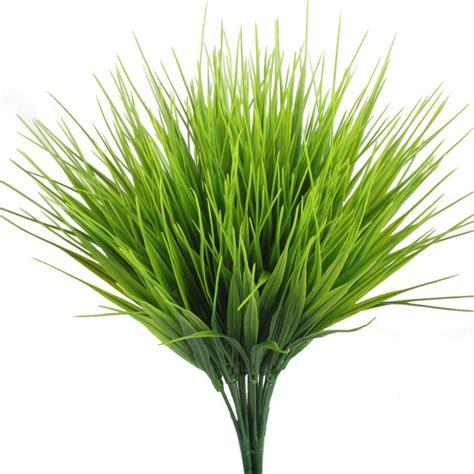 artificial plants hogado 4pcs faux plastic wheat grass