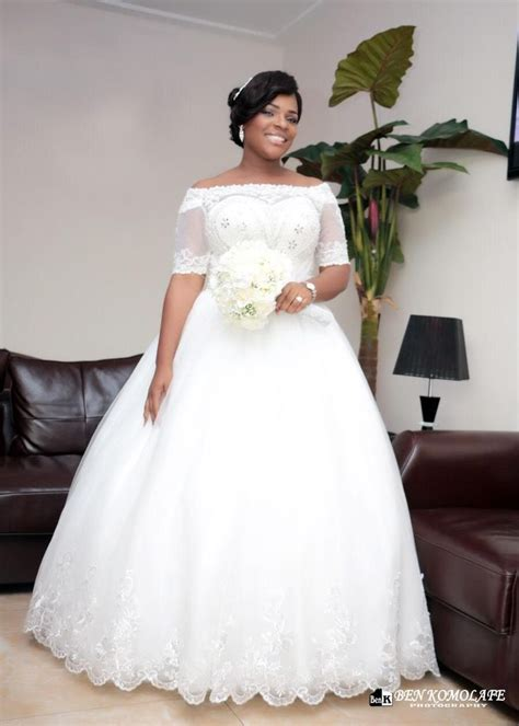 African Short Wedding Dresses | 2016 vintage beaded white lace plus size ball gown african
