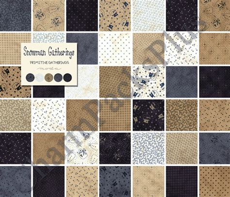 Snowman Gatherings Quilt Pattern by Snowman Gatherings By Primitive Gatherings Moda Fabric Charm