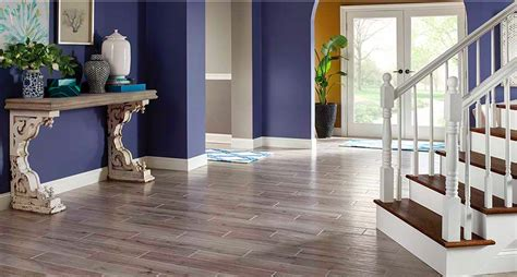 palmetto porcelain 6x36 quot smoke wood look tile 3 50 palmetto porcelain 6x36 quot fog wood look tile