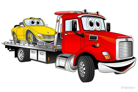 Lego Wall Art Stickers quot red tow truck flatbed cartoon quot by graphxpro redbubble