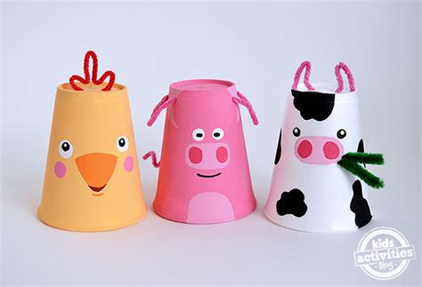 Paper Cup Animals Craft - 10 awesome crafts for gift of curiosity