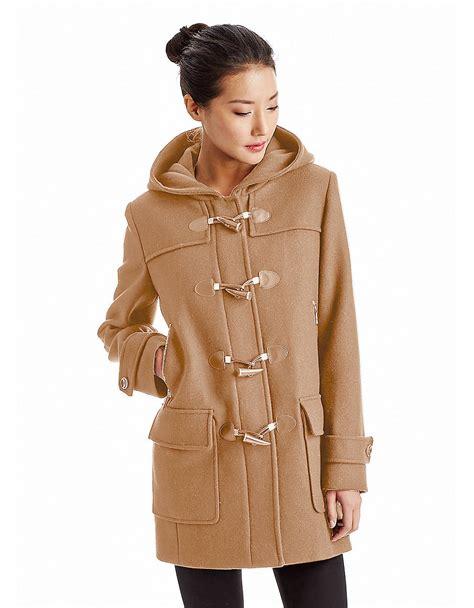 michael michael kors coat lyst michael michael kors hooded toggle coat in brown