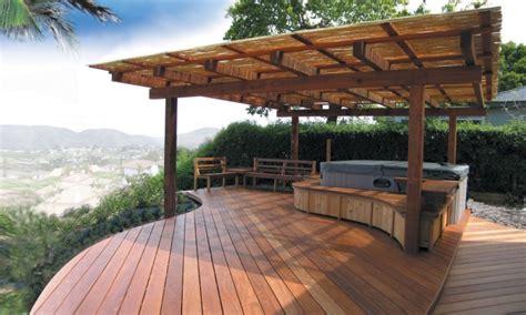 hot tub patio ideas luxury decks  patios backyard deck