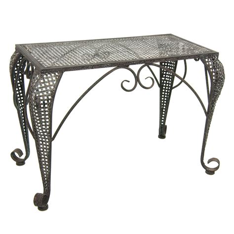 outdoor wrought iron console table furniture foldable wrought iron rustic garden
