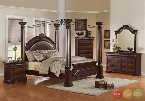 canopy bedroom sets for neo renaissance poster canopy bed luxury bedroom furniture set free shipping shopfactorydirect